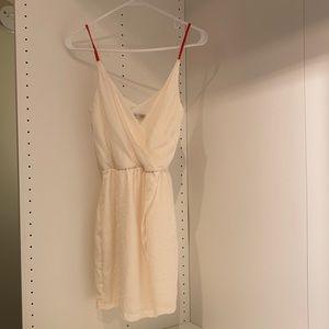 Satin white dress - Zara